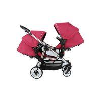 Poussette Doppel Cabrio Twin Baby Kinderwagen Lichtabsorber Hohe Landschaft Neugeborenen Kinderwagen Falten Vier Räder Kinderwagen Pram