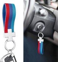 سلاسل الحلي [3 لون] حلقة المفاتيح النايلون حزام مفتاح الفرقة الداخلية بو الجلود 3- اللون شريط فوب سلسلة الأزياء للسيارة محفظة 1