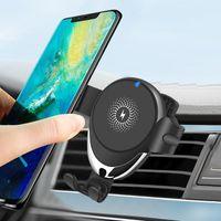 10 W Qi Araba Kablosuz Şarj iPhone12 Pro XS Max Samsung S20 Yerçekimi indüksiyon Hızlı Şarj Araba Telefon Tutucu