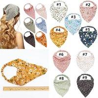 Женщины цветочные эластичные бандана мода женская тонкая цветочная ткань бандана треугольник шарф шифоновые волосы цветы аксессуары BOUTIQUE H2302