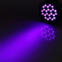 U'ing 72W المصابيح الأرجواني ضوء dj disco ktv حانة الصمام تأثير الضوء ضوء عالية الجودة الصمام أضواء المرحلة أضواء التحكم الصوتي