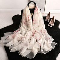 2019 New scarf women's long shawl autumn wraps designer scarf Printed silk scarf for women 180*90cm #248