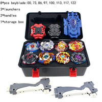 Takara Tomy Kombination Beyblade Burst Set Toys Beyblades Arena Bayblade Metall Fusion 4D mit Launcher Spinning Top Toys AA SQCZV