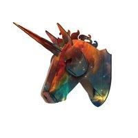 DIY 3D Animal de madera Cervetría de animales Modelo de arte Modelo de oficina Muro de la pared Decoración de la decoración Titulares de almacenes Unicornio Accesorios de decoración del hogar T200331