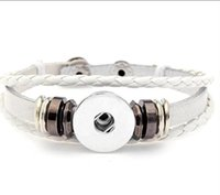 Bracelets Snap Bouton Bracelets 23cm Couple Couple Snap Bracelet 4 Styles Fit 18mm Noosa Chunks Button Cadeau de Saint Valentin 2475