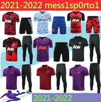 2021 Mancheste Polo Camisa de manga corta Pantalones Pogba Fútbol Traje 20/21 3/4 Rashford Lukaku Man Football Polo Shirtsuit