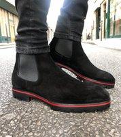 Lüks Moda erkek Kırmızı Alt Alpinono Ayak Bileği Çizmeler erkek Motosiklet Patik Kahverengi Siyah Açık Pabucu Tek Adam Yürüyen Ünlü Akşam, Parti,