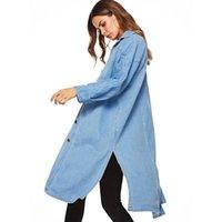 Trenchs de Femmes Coats Vanovich Europe Mode Denim Manteau pour Femme 2021 Spring and Automne Dames Bouchleuse Casual Vêtements