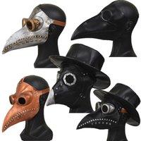 Halloween Plague Bird Mask Uomo Donne Nuovo Anime Cosplay PU in pelle PU Creato Creativo Celebrazione di alta qualità Accessori DWY3719 T200907
