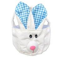 Novas cestas de coelhinho da Páscoa dos desenhos animados coelho bonito orelhas longas bolsas de coelho molhe impresso saco de armazenamento de páscoa saco de doces 5 cores
