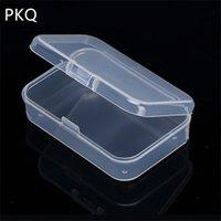 Petite boîte de stockage de boîtes en plastique transparent Collections de produit Boîte d'emballage Mignon mini Clear Petite boîte LJ200812