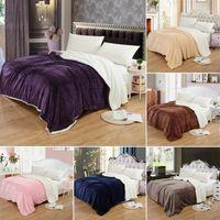 LBLA Super теплые одеяло роскошные толстые одеяла для кроватей флисовые одеяла и броски зима для взрослых Крышка кровати150 * 200см / 200 * 230см1