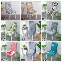 Spandex banquete impreso silla de silla conjuntos conjuntos simples conjuntos de comidas caseras cubiertas de sillas de boda para la fiesta de bodas 34 estilos lls648-wll