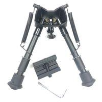 6 ~ 9 pollici Harris Style BiPod Tactical Tactical Regolabile Altezza Bloccato Molla Ritorno Picatinny Rail Weaver Adapter opzionale