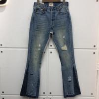 Slim-Fit Gallery Departamento Stretch Denim Calças Damando Hole Afligido Jean Cowboy Jean Calças Homens Baggy Jeans Homens Roupas1