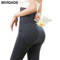 BIVIGAOS HERFST INVIERNO NUEVO PUSH UP PUSH UP JEAN LEGGINGING LEGGINGS VIRGRAAT HIGO TABLARIO SLIM JEGGINGS