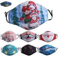 Christmas Designer Face Mask Santa Snowman Fashion Face Masks Men Women 3D Printing Dustproof Fog Facemask HH9-3631