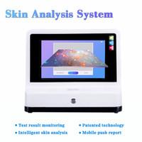 2021 판매! 얼굴 분석을위한 스탠드가있는 고품질 사진 피부 분석기 10 인치 스킨 스캐너 분석기 자동 분석