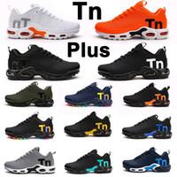 حذاء رياضي رجالي TN KPU زئبقي TN Tuned Plus ثلاثي أسود وأبيض للرجال والنساء حذاء رياضي خارجي 40-46