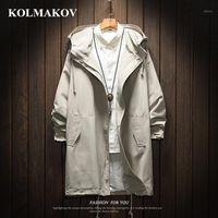 Колмаков Мужчин Длинные Требовые Пальто Куртки Полиэстер Черный Требовый Пальто Мужские весенние Куртки и Пальто 2021 Куртки для мужчин Большой Размер1