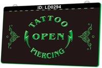 LD0294 Tattoo Open Piercing 3D-Gravur LED-Lichtzeichen Großhandel Einzelhandel