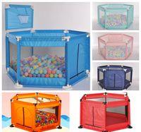 Baby Playpen Загородный Playmats Складной Защитный Барьер Кровать 0-6 лет Детская площадка Детская игровая Игра Палатка Укрытие для младенцев Holiday Gift LLS538-WLL