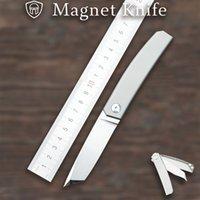 Mercenary M390 Blade TC4 Титановый сплав ручки поворота складной карманный нож Magne