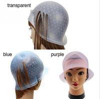 حار الصحة قابلة لإعادة الاستخدام السيليكون يسلط الضوء قبعة الشعر تلوين تسليط الضوء على صبغ كاب الصقيع البقشيش الصباغة لون أدوات تصفيف الشعر
