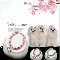 Bling Perle Collier Accessoires pour animaux Accessoires pour chiens Collier d'animaux de compagnie Laisses pour chiens S m l bijoux fournitures de chien
