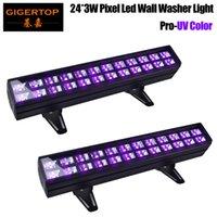 24 LED 디스코 UV 바 조명 파티 DJ UV 램프 벽 세탁기 조명 크리스마스 레이저 프로젝터 무대