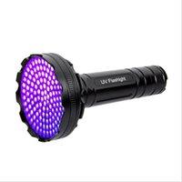 20pcs Nuovo arrivo 128LLED 395NM UV LED torcia elettrica nera leggera professionale ultravioletto pet orina detector money flowlight lampada scorpioni