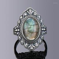 Nasiya vintage oval natural labradorite anéis para mulheres 925 esterlina anel de prata jóias anel de dedo gemstone anéis de festa de festa1