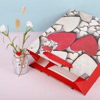 Valentine Regalo Bag White Kraft Bag Bag Geart Stampato Matrimonio Compleanno festa Favori Forniture Borse regalo S M L EEF3920