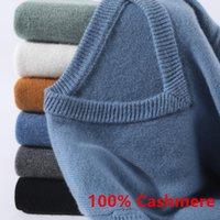 Super 100% кашемировый свитер мужчин пуловер 2020 осень зима теплые классические соревнователи V-образным вырезом мужской джемпер джерси хомбр тянуть Homme