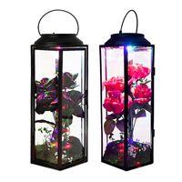 Flores decorativas Grinaldas eternas Flor LED luz artificial floral rosa lâmpada amante esposa namorada aniversário presente