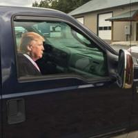 TOOGOD Trump 2020 Araba Sticker Araba Pencere Cling Rider Pencere Çıkartması (Yolcu / Sağ Taraf için)