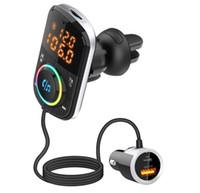 BC70 BC71 Kits de voiture Transmetteur FM Bluetooth V5.0 Habite de radiofacteur sans fil MP3 Player Kit QC3.0 USB Type-C PD Charge rapide