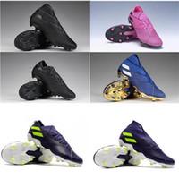Moda para hombre Clases de fútbol Nemeziz 19.1 FG Soccer Shoes Cleats Messi Football Boots Scarpe da Calcio