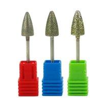 "Nail Art Equipment 3/32 ""Nagelbohrer Set Fräser Cutter Pedicure Remover Apparat für Maniküre-Dateien Stahl Sand Diamond Bits"