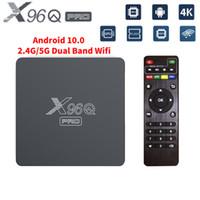 Android 10 Boîte TV Smart TV Boîte TV Allwinner H313 X96Q Pro 2.4g5g Dual WiFi 4K Player Joueur HD Set-haut Set-haut Mise à niveau de X96Q
