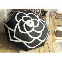 High-End-kleiner duftender Kamelienautomatischer Regenschirm Sonnenschirm UV-Regenschirm klassische Frauen-Regenschirm J1209
