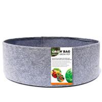 10-50 Gallon Tessuto Giardino Giardino rotondo Patata di verdure Pomodoro Pomodoro Piantatura Grow Bag BACK Pianta floreale traspirante Grow Pot
