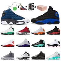 Nike Air Jordan 13 Jordan Retro 13 13s 도매 최고 품질의 상자 jumpman 13 mens 농구 신발 13s 새틴요르단레트로 플린트 하이퍼 로얄 레드 플린트 운동화 트레이너