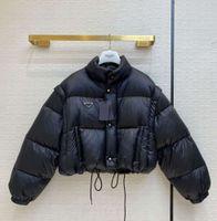 Down Designer Parkas Top Qualität mit invertiertem Dreieck Frauen Winter Dicke Mantelärmeln Abnehmbare Stil Weste Größe S M L