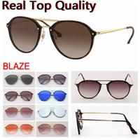 Gafas de sol Blaze Double Bridge Ronda 2020 Nuevos Hombre Gafas de sol Mujeres Gafas de sol Trasas con estuche de cuero, paño, todos los accesorios para minoristas!