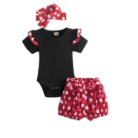 Baby Girls Polka Dots Sets 1 2 Years Old Birthday Party Costume Romper Tops Shorts Pants 3PCS Infant 12M 24M Clothing Outfits 2352 V2