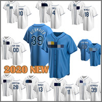 2020 Baseball Jersey Bay 12 Wade Boggs Rays 4 Blake Snell 39 Evin Kiermaier 42 Jackie Robinson 5 Matt Duffy 3 Evan Longoria Joey Wendle New