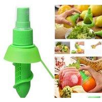 Herramientas de hortalizas Accesorios Creative Lemon Sprayer Fruta Jugo Citrus Lima Juicer Spritzer Gadgets Productos para la cocina QHV5Q Fzuur