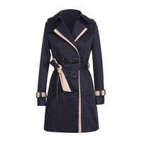 manteaux KANCOOLD femmes d'hiver Autume Boutons Retour Bow Bandgae coupe-vent manteaux Fashion Brief nouvelles et vestes femmes 2020Oct3