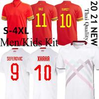 2020 Suíça Copa Europeia Jerseys 20 21 Bale Allen Wales Camiseta de Fútbol Embolo Seferovic Rodriguez Futebol Jerseys S-4XL